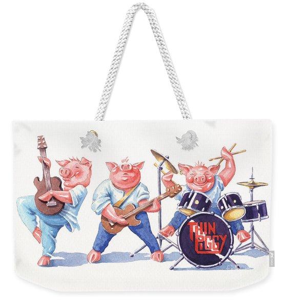 Thin Piggy Weekender Tote Bag
