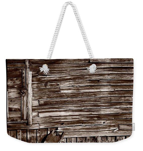 Weathered Wall In Bodie Ghost Town Weekender Tote Bag