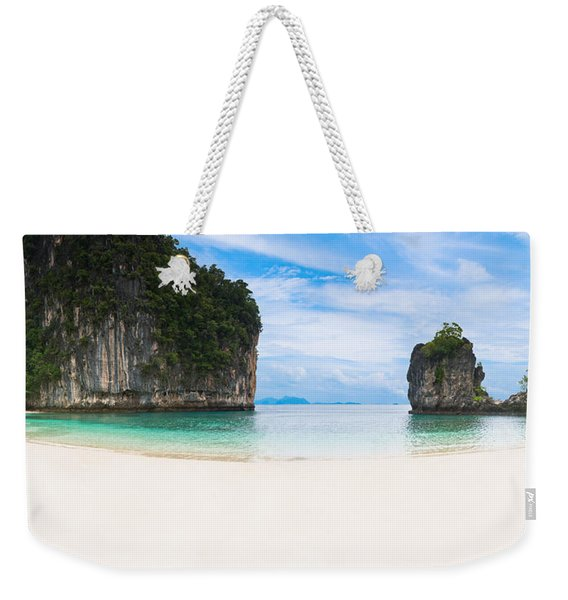 White Sandy Beach In Thailand Weekender Tote Bag