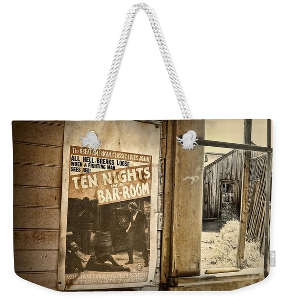10 Nights In A Bar Room Weekender Tote Bag