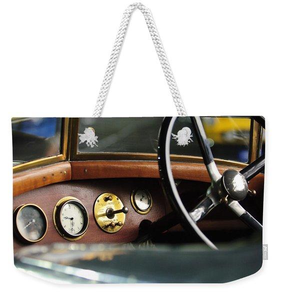 1921 Bentley  Instruments And Steering Wheel Weekender Tote Bag
