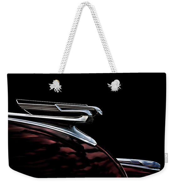 1940 Chevy Hood Ornament Weekender Tote Bag