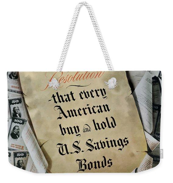 1946 Resolution  Weekender Tote Bag