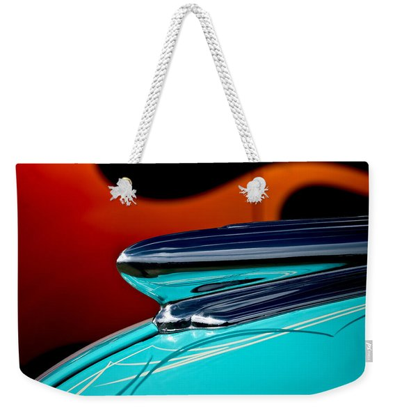 1948 Chevy Hood Ornament Weekender Tote Bag