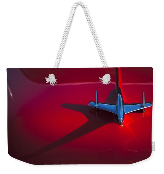 1955 Chevrolet Bel Air Hood Ornament Weekender Tote Bag
