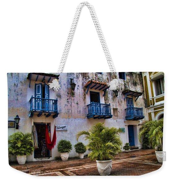 Colonial Buildings In Old Cartagena Colombia Weekender Tote Bag