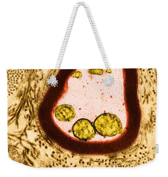 Myelinated Axon, Tem Weekender Tote Bag