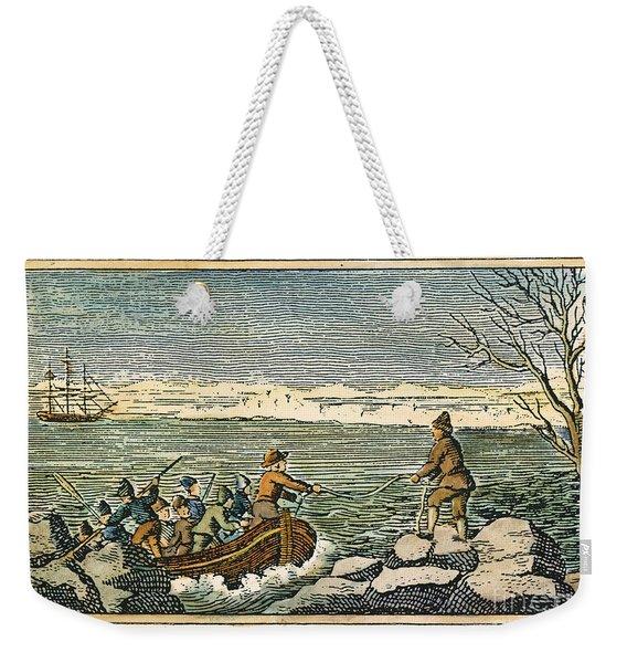 Plymouth Rock: Landing Weekender Tote Bag