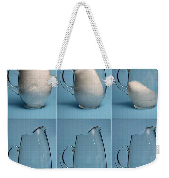 Snow Melting Weekender Tote Bag