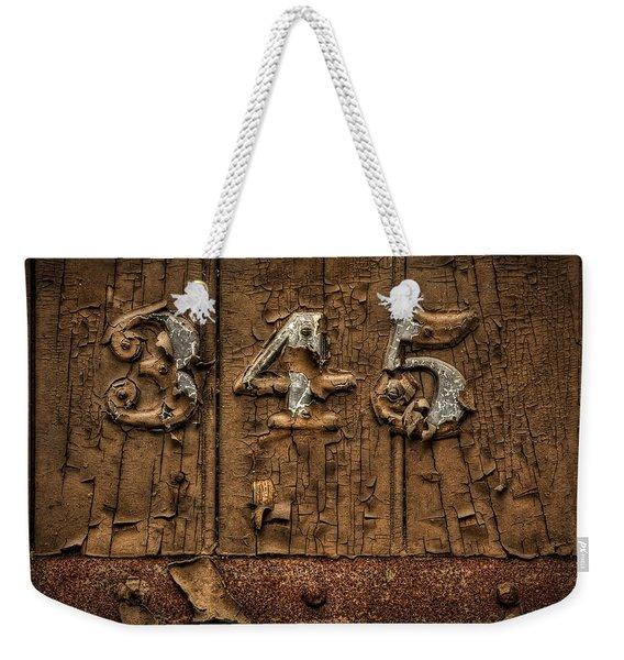 345 Weekender Tote Bag