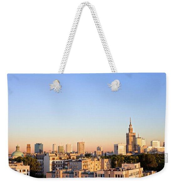 Warsaw Cityscape Weekender Tote Bag