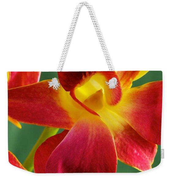 Dendribium Malone Or Hope Orchid Flower Weekender Tote Bag