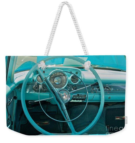 57 Chevy Bel Air Interior 2 Weekender Tote Bag