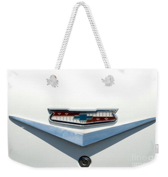 57 Chevy Emblem Weekender Tote Bag