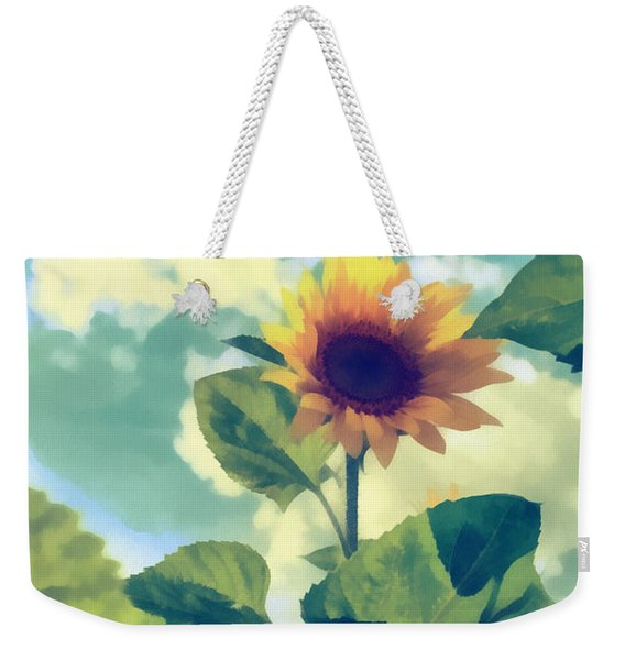 Weekender Tote Bag featuring the photograph Sunflower by Michael Goyberg