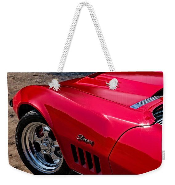 69 Red Detail Weekender Tote Bag