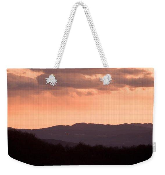Mountain Sunset Weekender Tote Bag