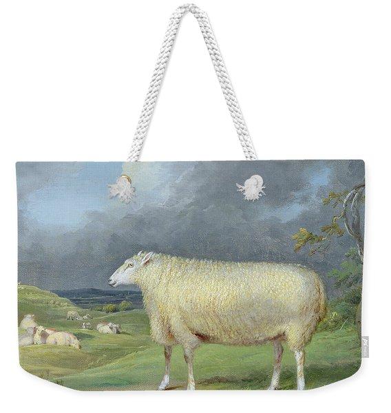 A Border Leicester Ewe  Weekender Tote Bag