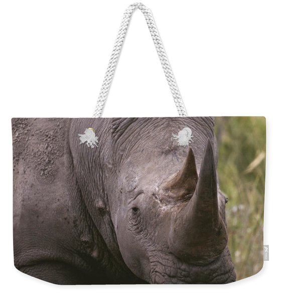 A Close View Of A White Rhinoceros Weekender Tote Bag