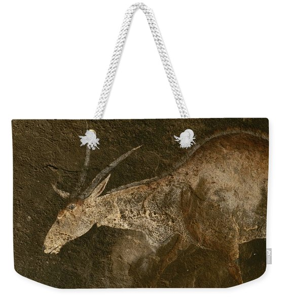A Close View Of An Eland In A San Rock Weekender Tote Bag