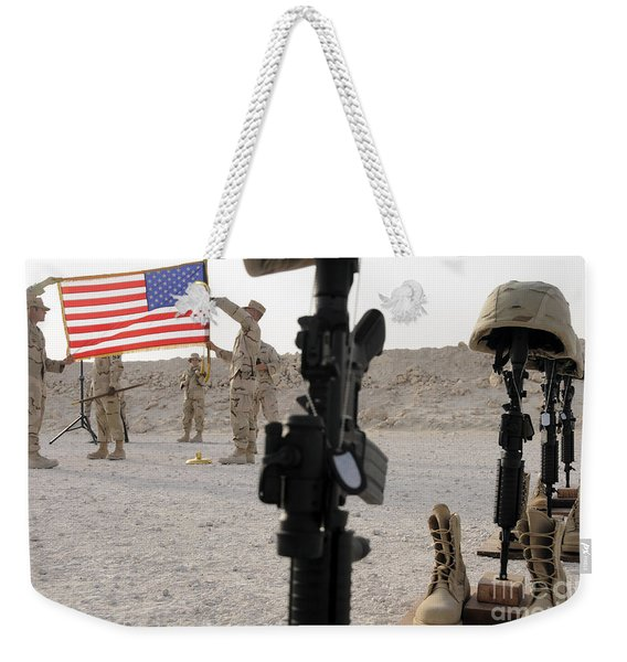 A Final Guardmount Ceremony To Honor Weekender Tote Bag