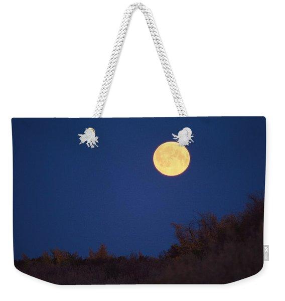 A Full Moon Rises Above The Mackenzie Weekender Tote Bag