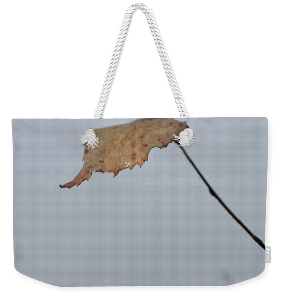 Weekender Tote Bag featuring the photograph A Lonely Leaf by Michael Goyberg