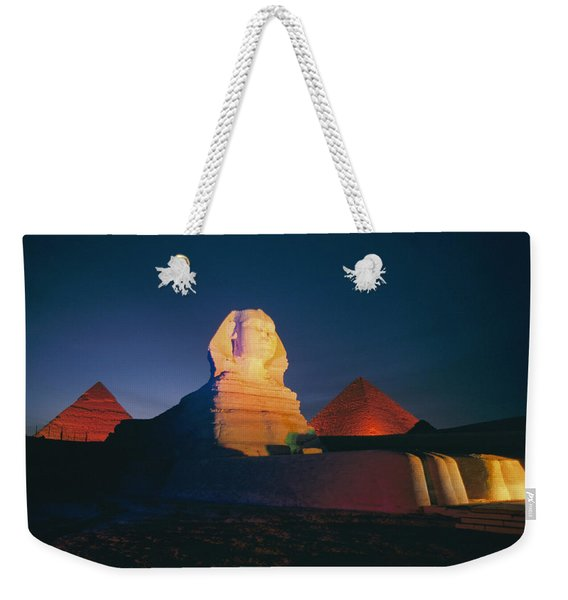 A Night View Of The Great Sphinx Weekender Tote Bag