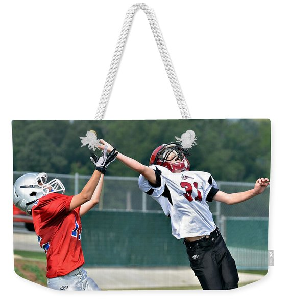 A Pass For The Touchdown Weekender Tote Bag
