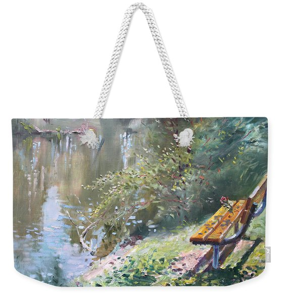 A Rose On The Bench Weekender Tote Bag