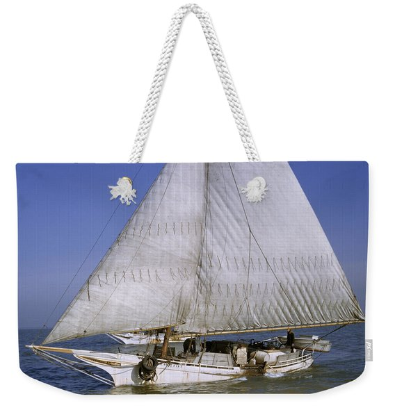 A Skipjack For Oyster Fishing Sails Weekender Tote Bag