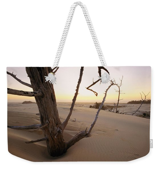 A Twilight View Of Drift Wood Weekender Tote Bag