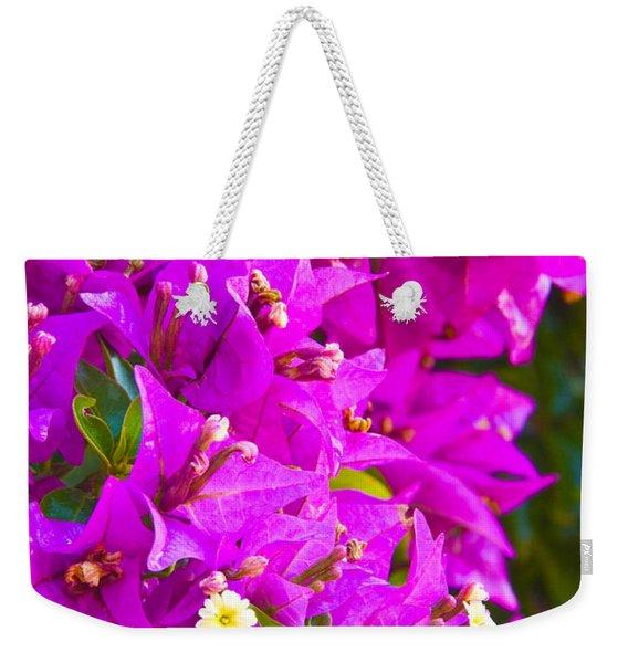 A Wall Of Flowers Weekender Tote Bag
