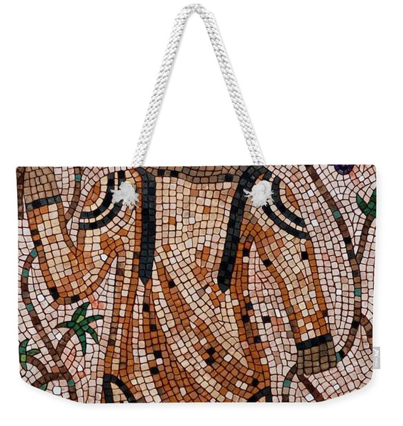 Weekender Tote Bag featuring the painting A Wealthy Farmer by Cynthia Amaral