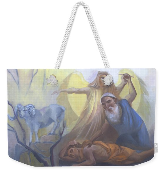 Abraham And Issac Test Of Abraham Weekender Tote Bag