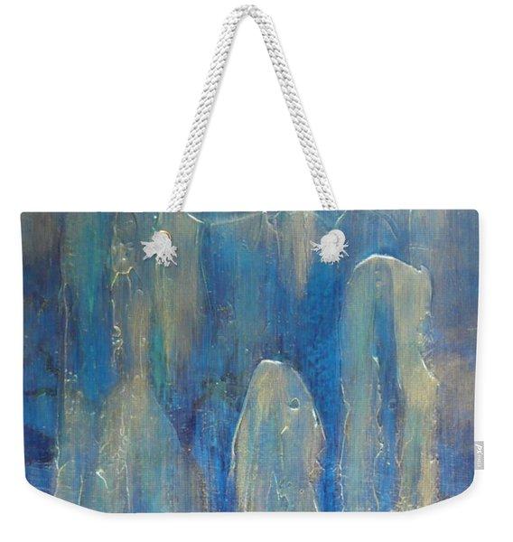Abstract Blue Ice Weekender Tote Bag