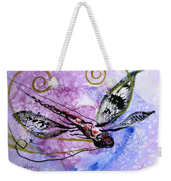 Abstract Dragonfly 6 Weekender Tote Bag
