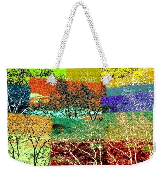 Abstract Fusion 48 Weekender Tote Bag