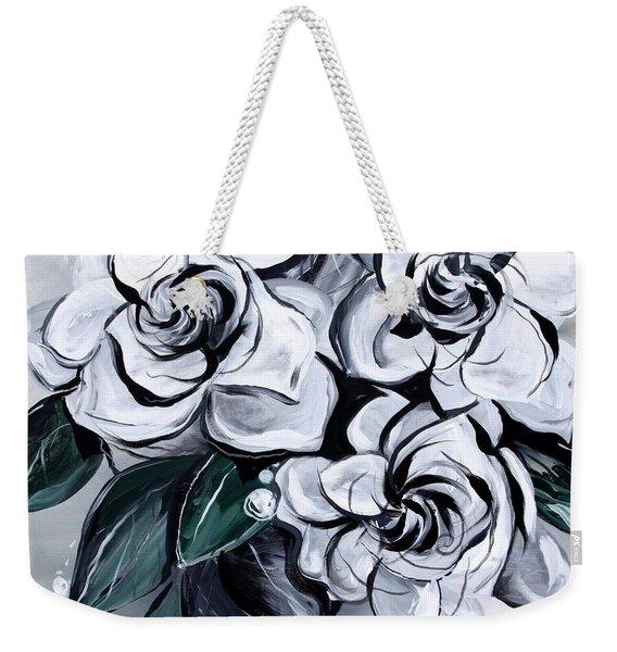 Abstract Gardenias Weekender Tote Bag