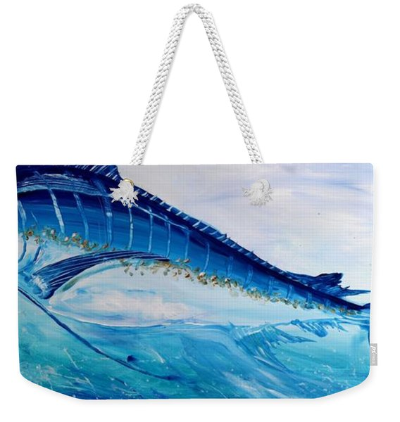 Abstract Marlin Weekender Tote Bag