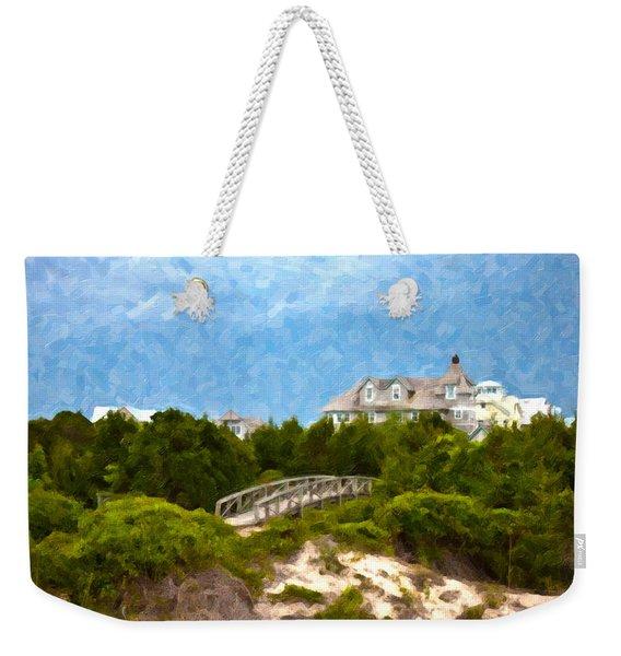 Across The Bridge Weekender Tote Bag