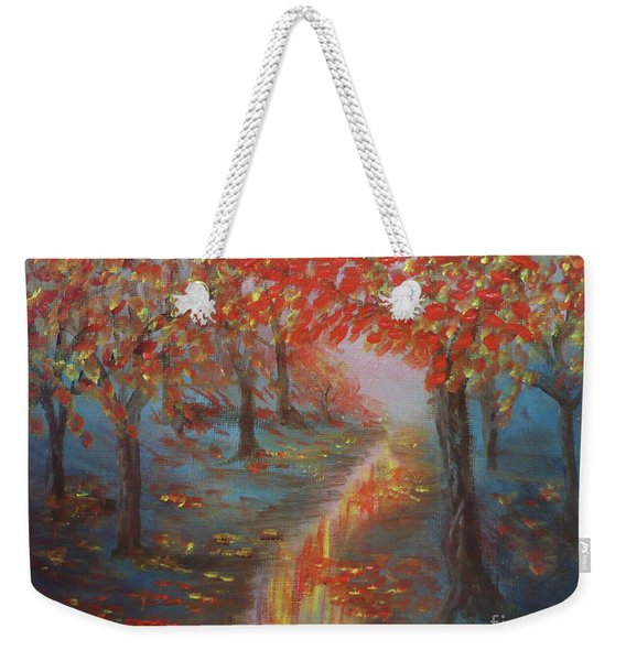 After The Rain In Autumn Weekender Tote Bag
