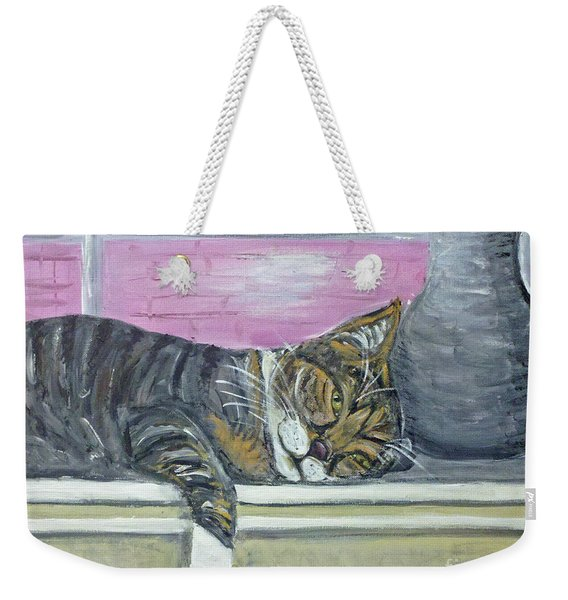 Alex On Windowsill  Weekender Tote Bag
