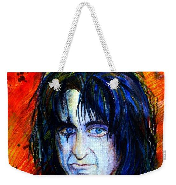 Alice Cooper  Two Faces Weekender Tote Bag