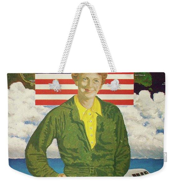 Amelia Earhart Calendar Art Weekender Tote Bag