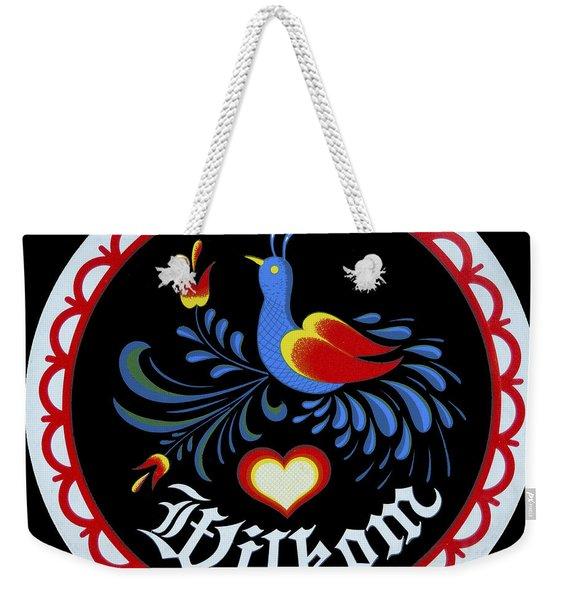 Amish Hex Design Weekender Tote Bag