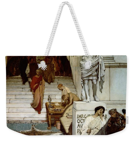 An Audience At Agrippa's Weekender Tote Bag