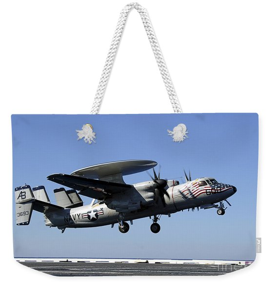 An E-2c Hawkeye Conducts A Touch-and-go Weekender Tote Bag