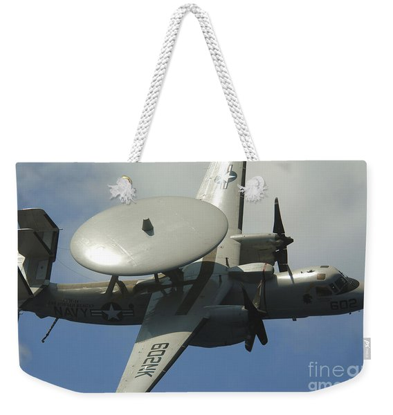 An E-2c Hawkeye Makes A Low Pass Weekender Tote Bag