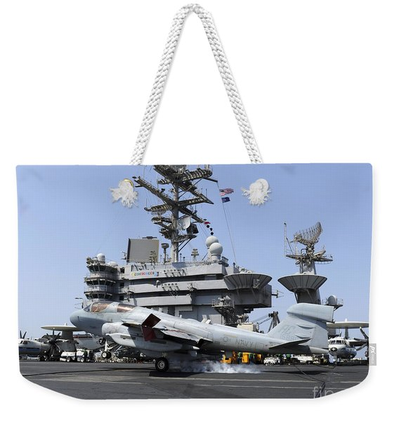 An Ea-6b Prowler Catches An Arresting Weekender Tote Bag